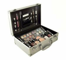 Cameo Carry All Trunk Train Case with Makeup and Reusable Black & White Aluminum