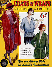 Leach's 6D #23 c.1920 Vintage Patterns in Knitting & Crochet for Cloaks Sweaters