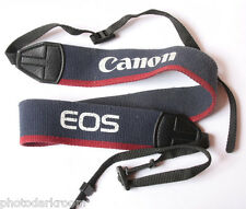 """Canon EOS 1.5"""" Classic Camera Strap 3/8"""" Loop Blinder - Blue/Red - USED Z058"""