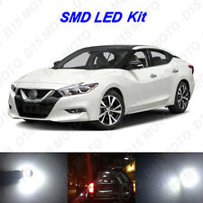 13 x White LED Interior Bulbs + Reverse + Tag Lights for 2016 2017 Nissan Maxima