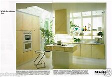 Publicité Advertising 1989 (2 pages) Les Cuisines Miele