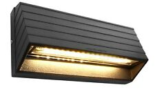 Modern LED Wall Light Down or Up Surface Mount Light Matt Black in Warm White