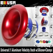 """EMUSA RED 3"""" Neck / 6.5"""" Opening Aluminum Velocity Stack w/coupler +clamps SET"""