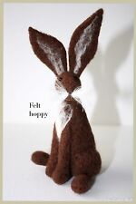 Dark  Brown  hare needle felting kit