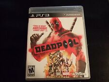 Replacement Case (NO GAME) DEADPOOL PLAYSTATION 3 PS3