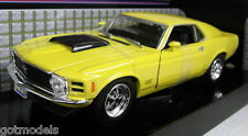 Motormax 1/24 Scale 1970 Ford Mustang Boss 429 Yellow Diecast model car