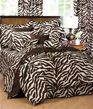 3 pc Karin Maki Brown Zebra Super Twin Sheet Set NIP
