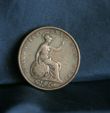 Great Britain 1/2 Penny 1834 Copper World Coin Uk Seated Half Cent Gb England
