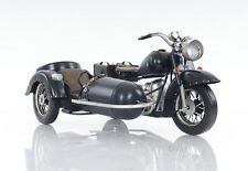 "BMW R75 Military 1930s Motorcycle w/ Sidecar Metal Model 11"" Automotive Decor"
