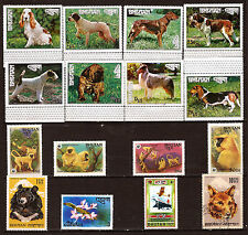 BUTHAN  neufs: animaux domestiques et sauvages :chiens,singes,ours divers E9