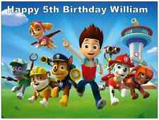 Paw Patrol Personalised Wafer Paper Topper For Large Cake Various Sizes A4