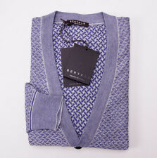 NWT $895 BERTOLO Luxury Cashmere-Silk Cardigan Sweater L/54 Lavender Pattern