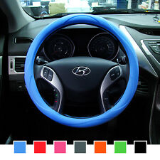 Gauss Premium Silicone Car Steering Wheel Cover (Blue) - One size fits all