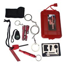 Outdoor Camping Hiking Sport Self Help Survival Emergency Tools SOS Box Kits TL