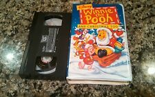 WINNIE THE POO AND CHRISTMAS TOO RARE CLAMSHELL VHS! WALT DISNEY