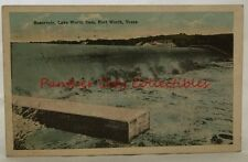 Antique Postcard 1923 Reservoir Lake Worth Dam Fort Worth Texas TX PC