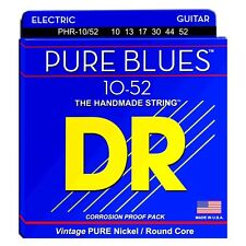 DR  PHR-10/52 Electric Guitar Strings 10-52 Pure Blues big n heavy
