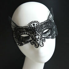 Lady Black Cat Catwoman Masquerade Halloween Eye Lace Mask Costume Ball Party