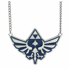 OFFICIAL THE LEGEND OF ZELDA SKYWARD SWORD TRIFORCE BLUE & GRY NECKLACE *NEW*