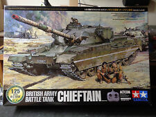 TAMIYA 1/25 SCALE RC CHIEFTAIN TANK  Full Operation Set  NIB