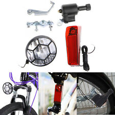 Cool Motorized Bike Bicycle Generator Friction Dynamo Head Tail Light Acessories