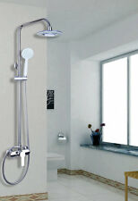 "Rain Bath Shower Mixer Tap 8"" Square Shower Head Faucet Set Chrome Finish"