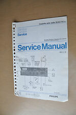 Philips Auto cassette deck P1 Version 0 Vintage Genuine service manual.