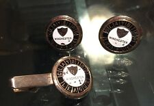Vintage Winchester Claybird League Cuff Links Tie Clasp Clip Bar Shooting Skeet