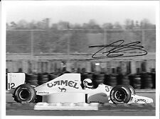 JOHNNY HERBERT firmato originale stampa foto TEAM LOTUS Test Silverstone 1990