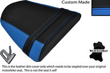 LIGHT BLUE & BLACK CUSTOM FITS RIEJU RS2 125 REAR LEATHER SEAT COVER ONLY
