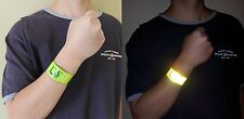 2X LW Reflective Wrist Arm Bands Slap Wraps Running Walking Biking Safety (Pair)