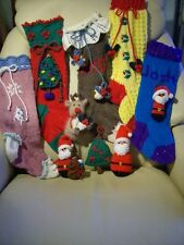 Stocking Up For Christmas - 5 stockings/trims/soft toys Knitting Pattern