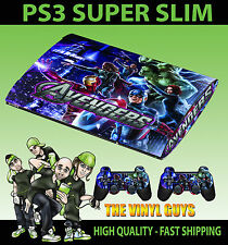 PLAYSTATION PS3 SUPER DÜNN AVENGERS ASSEMBLE 003 FOLIE STICKER & 2 POLSTER