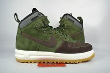 NEW Nike Lunar Force 1 DUCKBOOT ARMY OLIVE BROWN CAMO 805899-200 sz 7.5