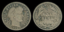 1909-S US Barber Dime 10 Cents Silver Coin