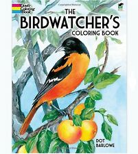 Adults Coloring Book Birdwatchers Design Patterns Stress Relief Relax Fun Nature