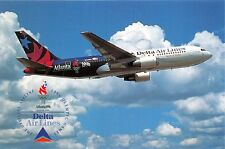 DELTA AIR LINES 1996 OLYMPIC GAMES ATLANTA~SPIRT OF DELTA~BOEING 767-232 POSTCRD