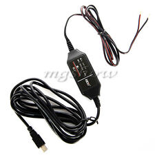 Perfect 12v to 5v Hard Wire Adapter Cable Mini USB for Car DVR Dash Camera