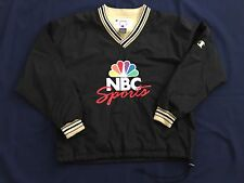 Vintage 90s NBC Sports Champion Pullover Spellout Windbreaker Jacket Mens M Blue