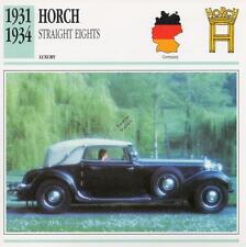 1931-1934 HORCH STRAIGHT EIGHT Classic Car Photograph / Information Maxi Card
