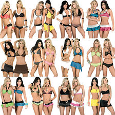 D3 WHOLESALE LOT 400 Pieces Women clothing EXOTIC BIKINI CLUBWEAR RAVE S M L XL