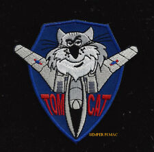 TOMCAT TOPGUN HAT PATCH F-14 PIN UP PILOT CREW WING GIFT PIN UP CAT QUILT WOW