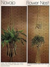 Beaded & Flower Nest Two Tier Plant Hanger Patterns #7106 Wired for Macrame