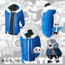 Undertale Sans Papyrus Hoodie Coat Winter Warm Zipper Sweatshirt Cosplay Costume
