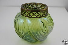 Art Nouveau Loetz Iridescent Art Glass Vase & Flower Arranger 16cm D. x 14cm H.