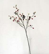 Artificial Red Rose Hip Branch - 89cm length - Rosehip Stem - Autumn Hedgerow