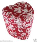 Heart Shaped Rouge Ottoman Foot Stool Pouffe French Provincial