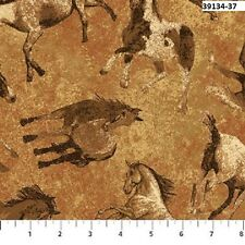 Stonehenge Canyon Ridge 39134-37 Quilt fabric Cotton BTY Tossed Western Horses R