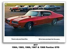 24x36 1968 Pontiac GTO The Great One Poster Ad Art Print 1964 1965 1966 1967