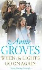 ANNIE GROVES __ WHEN THE LIGHTS GO ON AGAIN  ___ SHOP SOILED  __ FREEPOST UK